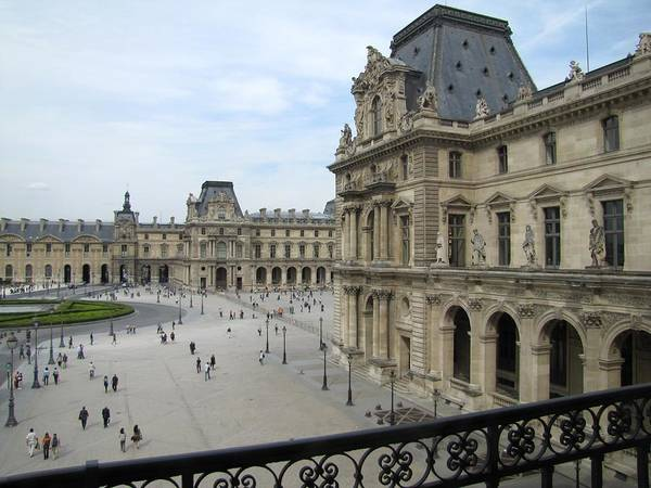 Photograph - Louvre Inner Courtyard by Keith Stokes