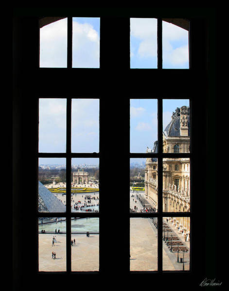 Louvre Window Art Print