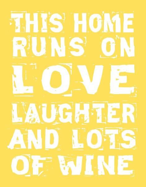 Cellar Digital Art - Love And Lots Of Wine Poster by Jaime Friedman
