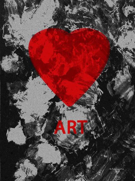 Digital Art - Love Art 2 by Xueling Zou