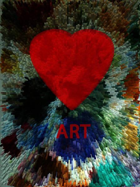 Digital Art - Love Art 3 by Xueling Zou