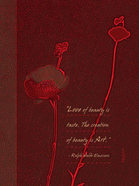 Digital Art - Love Art 4 by Xueling Zou