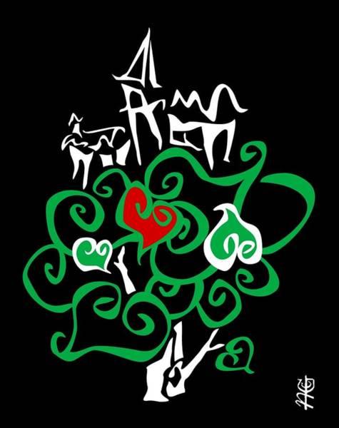 Wall Art - Digital Art - Love Bio City Cloud Ecologic World - Green Peace Art Design By Nacasona by Arte Venezia