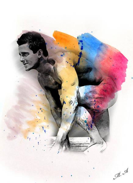 Male Nude Digital Art - Love Colors - 2 by Mark Ashkenazi