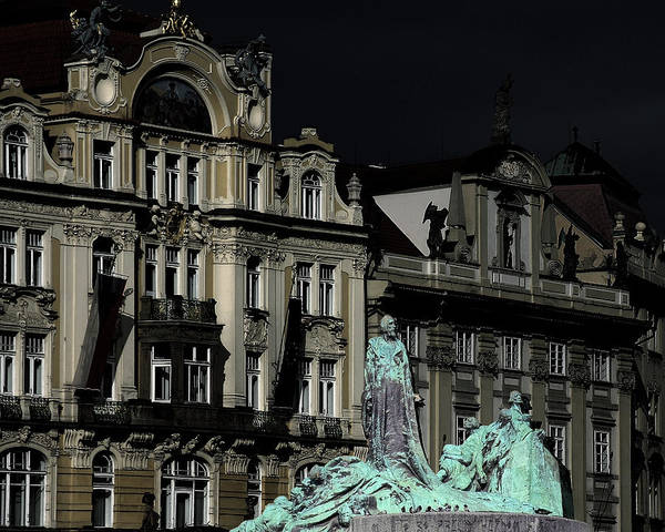 Photograph - Love Each Other And Wish The Truth To Everyone - Jan Hus Prague by Christine Till