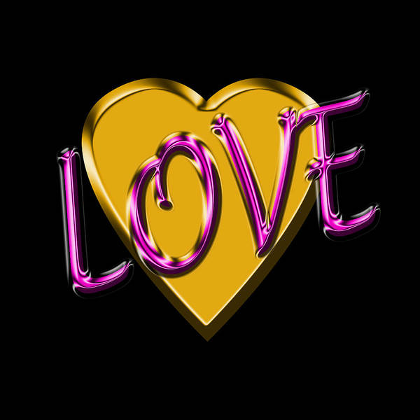 Digital Art - Love In Gold And Purple by Andrew Fare