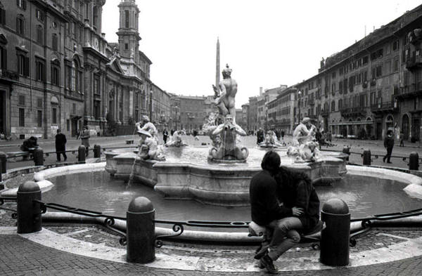 Photograph - Love In Piazza Navona by Emanuel Tanjala