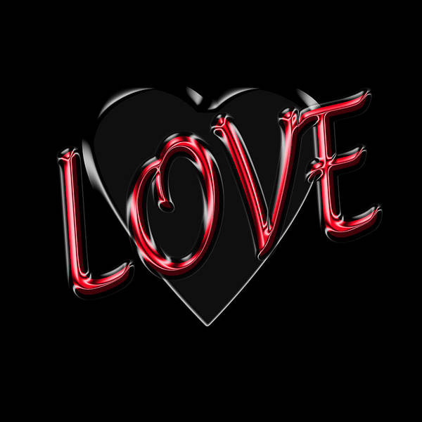 Sweetheart Digital Art - Love In Red And Black by Andrew Fare