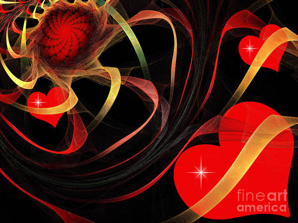 Magnificent Digital Art - Love Is A Gift From The Heart by Andee Design