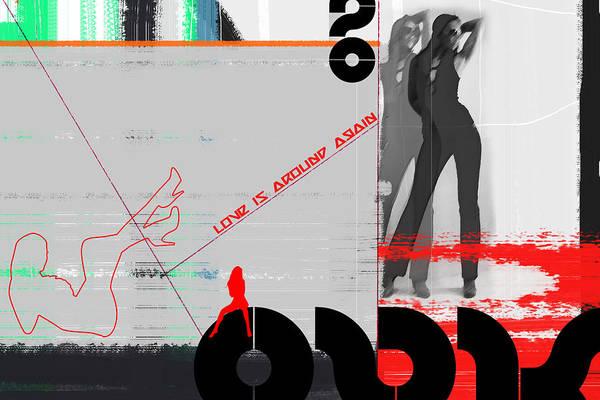 Dancing Digital Art - Love Is Around Again by Naxart Studio