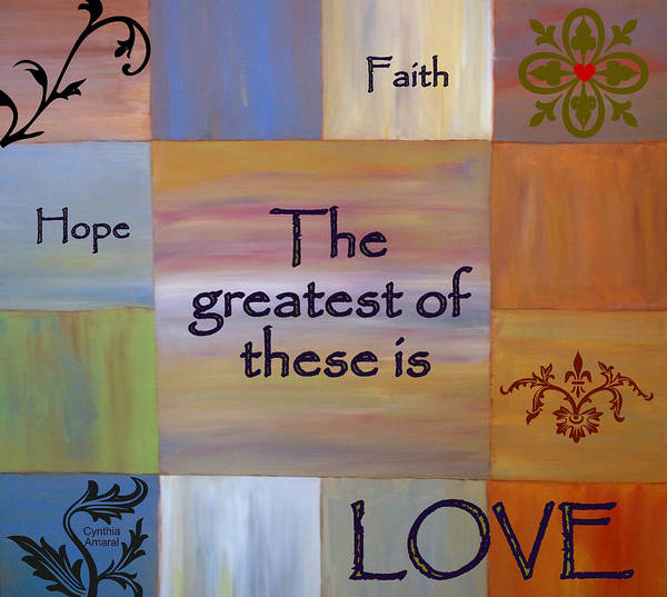 Art Print featuring the painting Love Is Everything by Cynthia Amaral