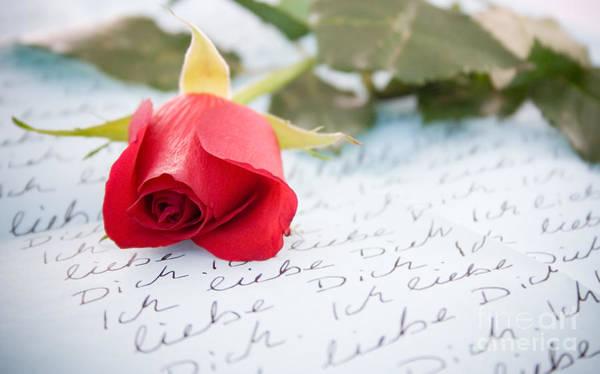 Written Language Photograph - Love by Kati Finell