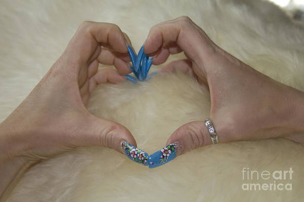 Photograph - Love Shown In Nails by Donna L Munro