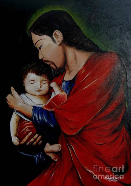 Wall Art - Painting - Love The Child by Jay Anthony Gonzales