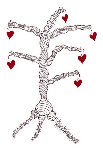 Wall Art - Painting - Love Tree by Frank Tschakert