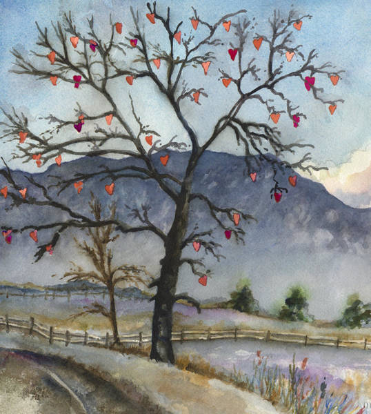 Bare Wall Art - Painting - Love Warms Even The Coldest Day by Anne Gifford