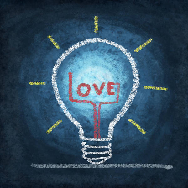 Love Notes Wall Art - Photograph - Love Word In Light Bulb by Setsiri Silapasuwanchai