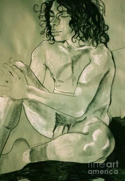 Male Model Drawing - Lovel Lovely Stewart by Joanne Claxton