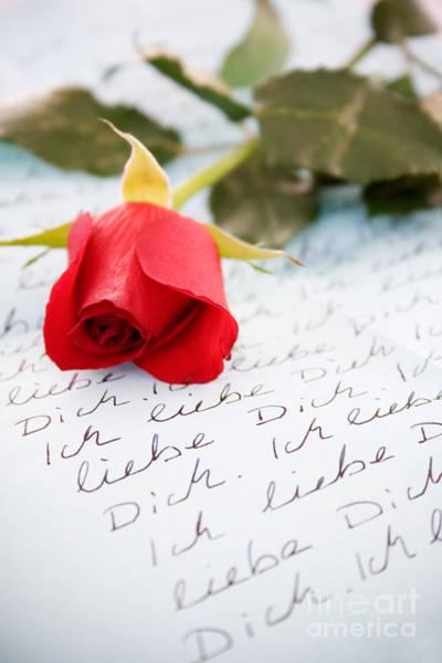 Written Language Photograph - Loveletter by Kati Finell