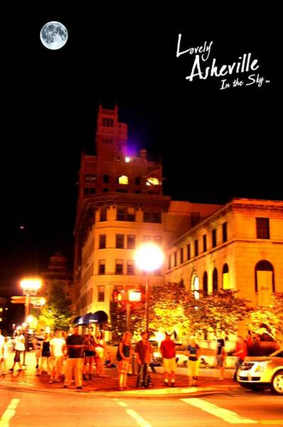 Grove Park Inn Photograph - Lovely Asheville Night Downtown by Ray Mapp