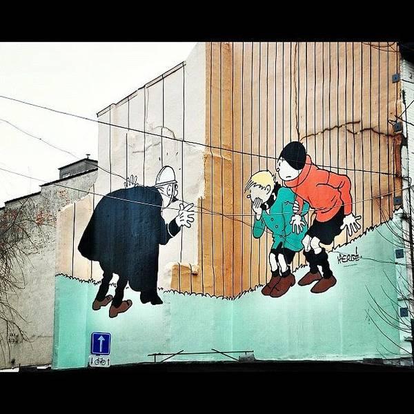 Comics Wall Art - Photograph - Lovely #herge #brussels #bruselas by Raquel Duque