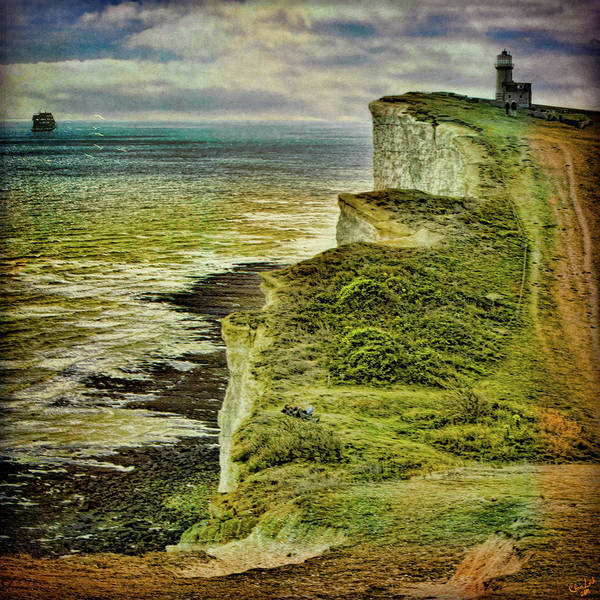 Photograph - Lovers On The Cliff Top Path by Chris Lord