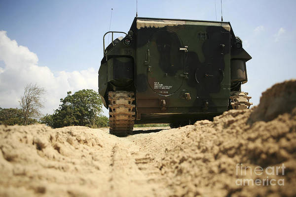 Aav Photograph - Low Angle Rear View Of An Amphibious by Stocktrek Images