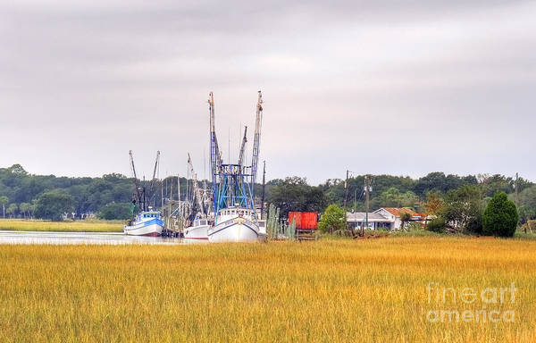 - Low County Marsh View Shrimp Boats by Scott Hansen