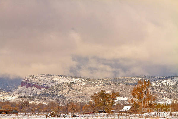 Photograph - Low Winter Storm Clouds Colorado Rocky Mountain Foothills 7 by James BO Insogna