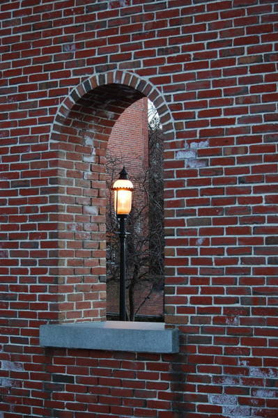 Photograph - Lowell Ma Brick Archway by Mary McAvoy