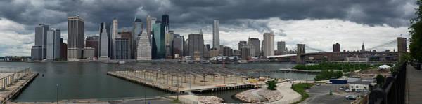 Photograph - Lower Manhattan From Brooklyn Panorama 2 by Gary Eason