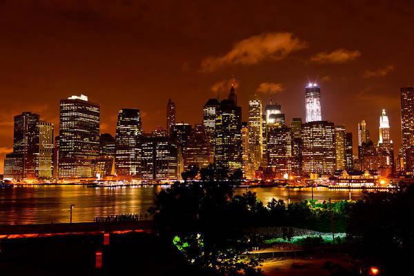 Photograph - Lower Manhattan From Brooklyn Promenade by Greg Norrell