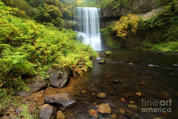 Photograph - Lower South Falls by Adam Jewell