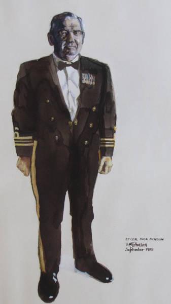Lt Cdr Dick Benson Art Print