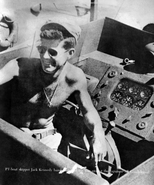 Pt-109 Photograph - Lt. John Kennedy In The Pacific by Everett