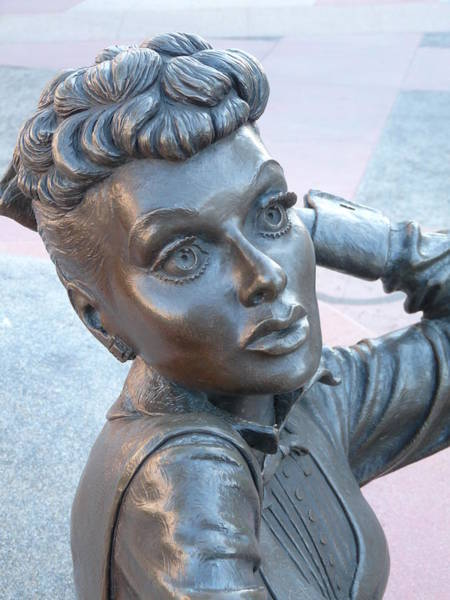 Photograph - Lucille Ball Bust by Jeff Lowe
