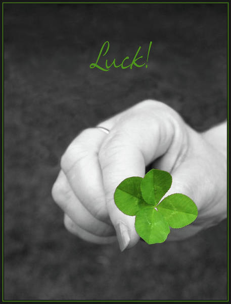 Four Leaf Clover Photograph - Luck by Kristin Elmquist