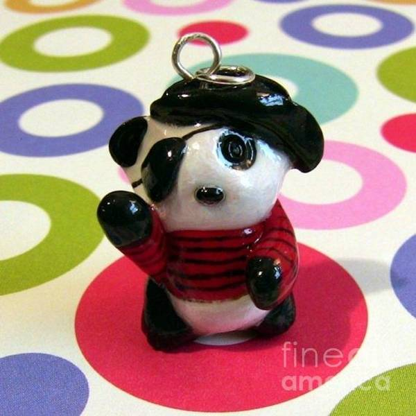 Jewelry - Lucky Pirate Panda by Pet Serrano