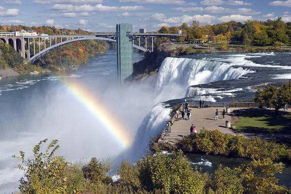 Niagara Falls State Park Photograph - Luna Island Viewpoint Over The American by Darwin Wiggett