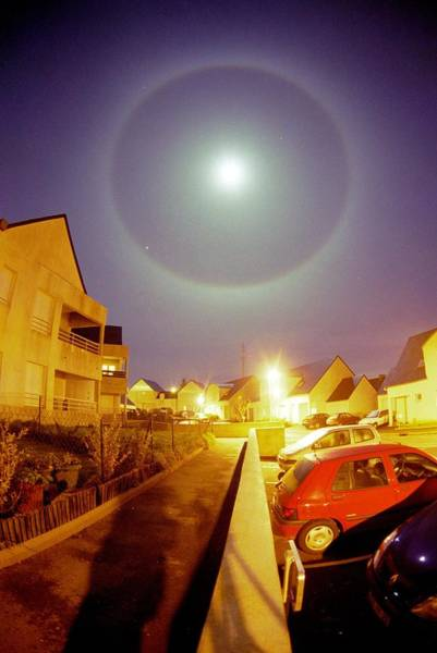 22 Degree Halo Wall Art - Photograph - Lunar Halo by Laurent Laveder
