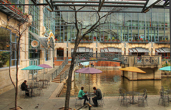 Photograph - Lunch On The Riverwalk by Sarah Broadmeadow-Thomas