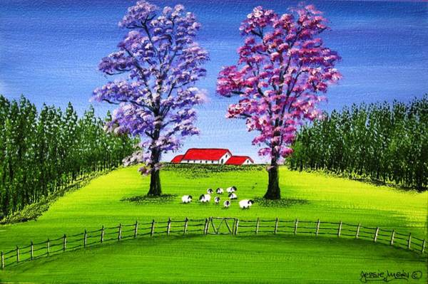 Gare Painting - Lush Sheep Farm 4373 by Jessie Meier