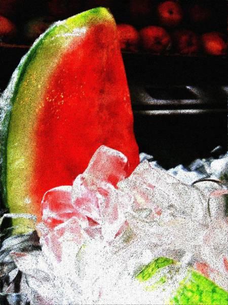 Wall Art - Digital Art - Lush Watermelon On Ice by Eve Paludan