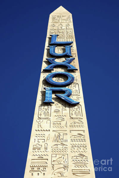 Photograph - Luxor Las Vegas Obelisk by Kate McKenna