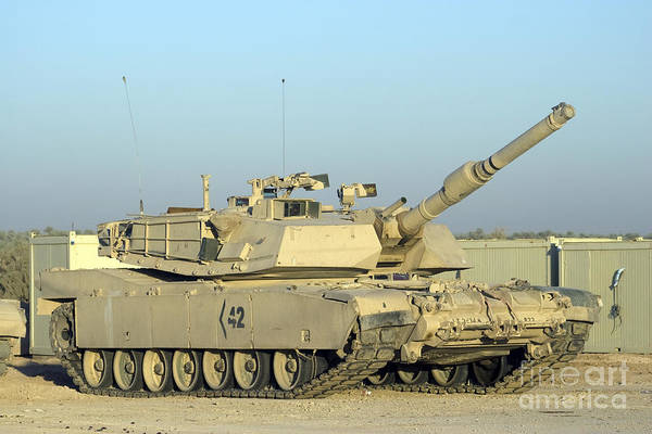 Photograph - M1 Abram Tank At Camp Warhorse by Terry Moore