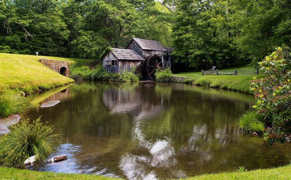 Unframed Photograph - Mabry Mill And Pond by Lori Coleman