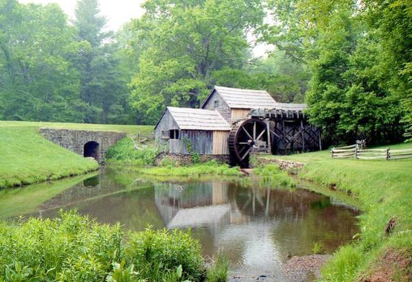 Treen Photograph - Mabry Mills by Lynnette Johns
