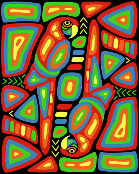 Panama Digital Art - Macaw Mola by Alison Stein