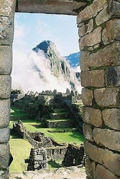 Wall Art - Photograph - Machu Picchu Thru The Window by Nimmi Solomon