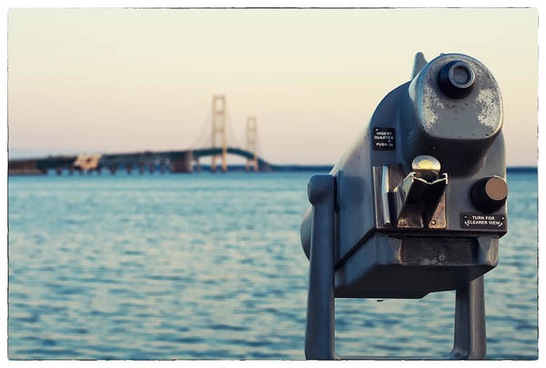 St Ignace Wall Art - Photograph - Mackinac Bridge View  by Tanya Harrison